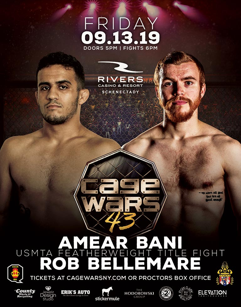 Cage Wars 43 Amear Bani vs Rob Bellemare