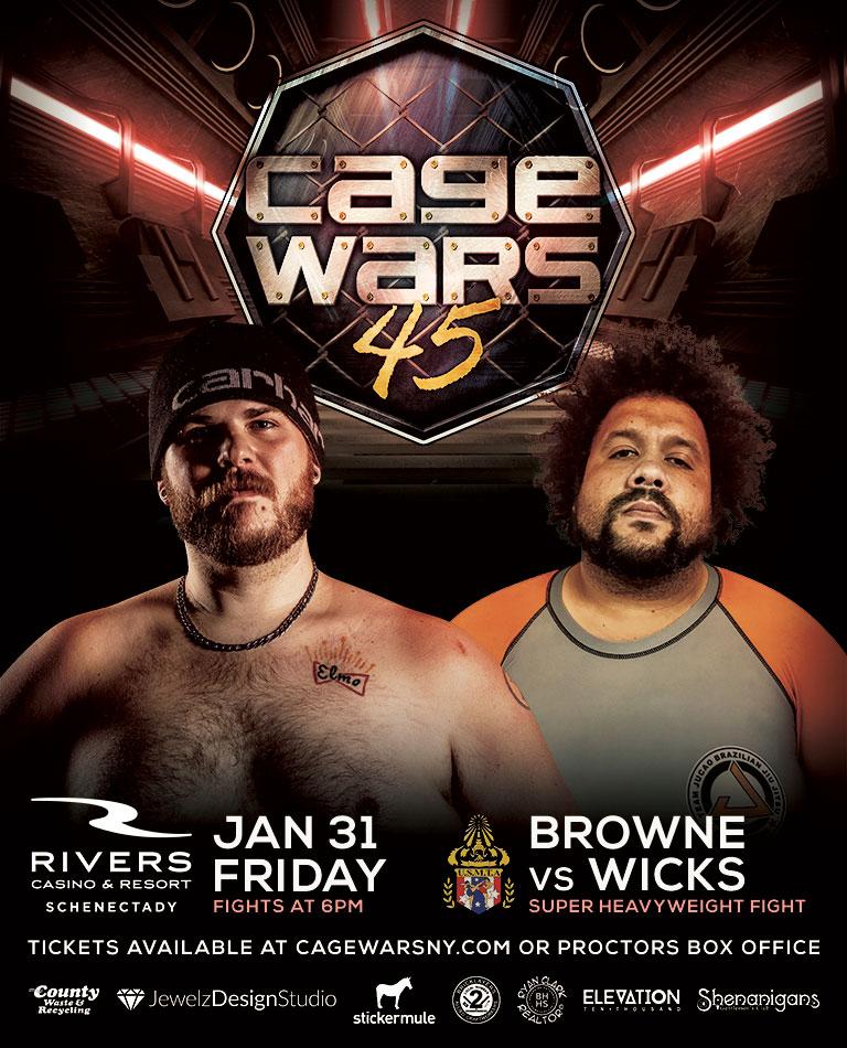 Chris Browne vs Jerrel Wicks